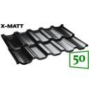 Moduļu metāldakstiņš BudMat VENECJA X-Matt 50*